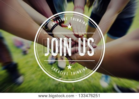 Join Us Apply Hiring Membership Recruit Team Concept