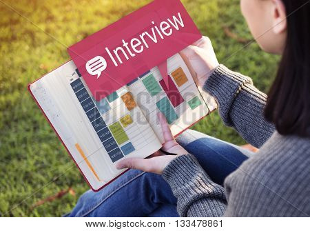 Interview Evaluation Job Interview Question Concept