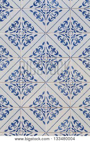 Traditional Azulejos Tiles On Facade