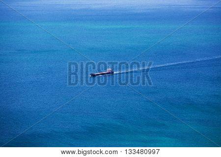 Cargo Ship Sailing In The Atlantic Ocean