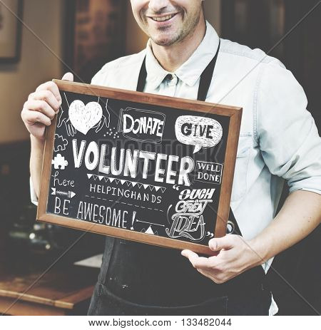 Volunteer Donate Give Charity Concept
