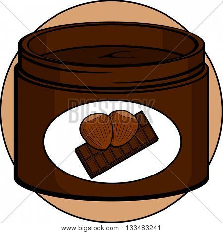 hazelnut and chocolate cream jar