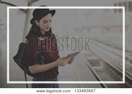 Casual People Activities Frame Graphic Concept
