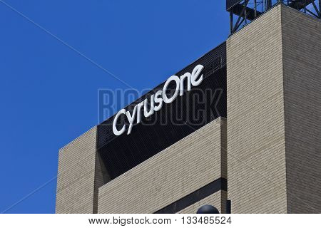 Cincinnati - Circa June 2016: CyrusOne Cincinnati Data Center Facility. CyrusOne is an Enterprise Data Center Provider II