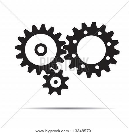 Black Vector Sprockets. Illustration and Graphic Design.