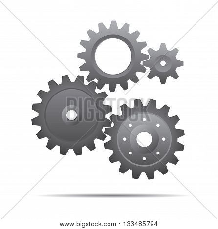 Gray Vector Sprockets. Illustration and Graphic Design.
