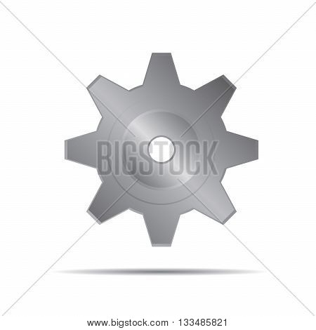 Grey Vector Sprocket. Illustration and Graphic Design.