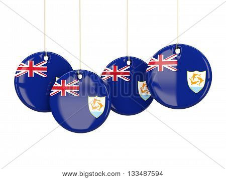 Flag Of Anguilla, Round Labels