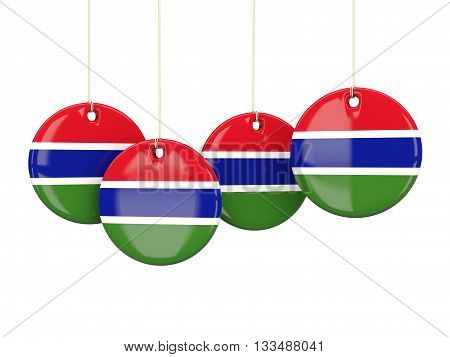 Flag Of Gambia, Round Labels