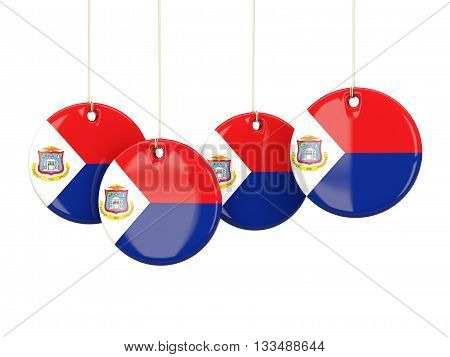 Flag Of Sint Maarten, Round Labels