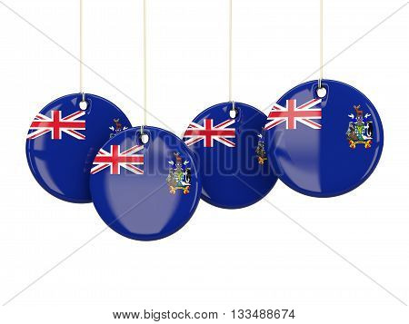 Flag Of South Georgia And The South Sandwich Islands, Round Labels