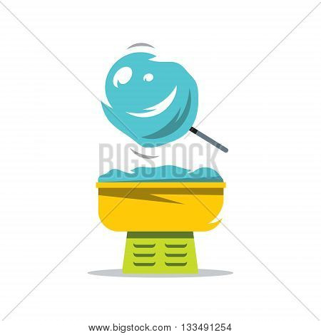Equipment for the production of Sweet Cotton. Isolated on white background