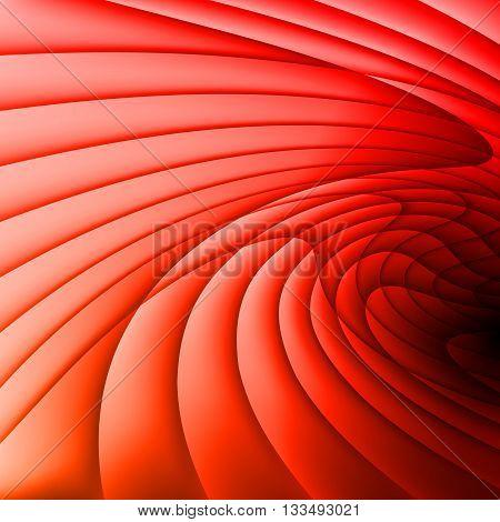 Red curvy gradient waves. Stripes. Background. Wallpaper.