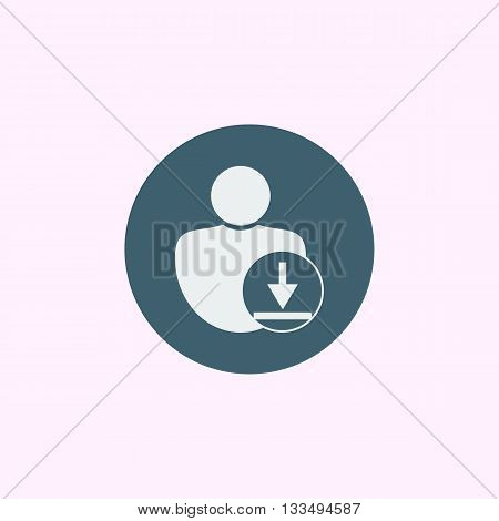 Download Icon In Vector Format. Premium Quality Download Symbol. Web Graphic Download Sign On Blue C