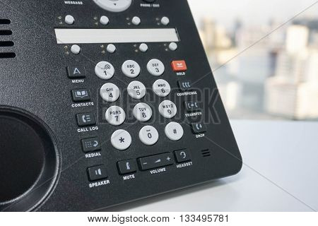 Close up of numeric keypad of IP Phone