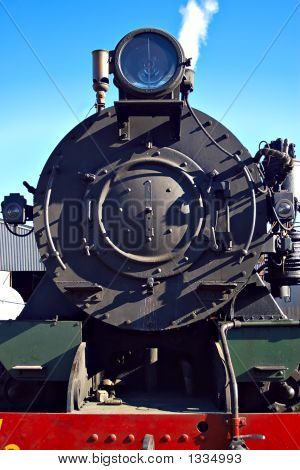 Front Of Steam Train