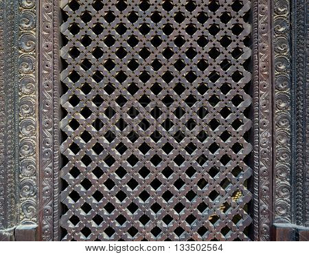 Wooden Nepalese window called Ankhi jhyal