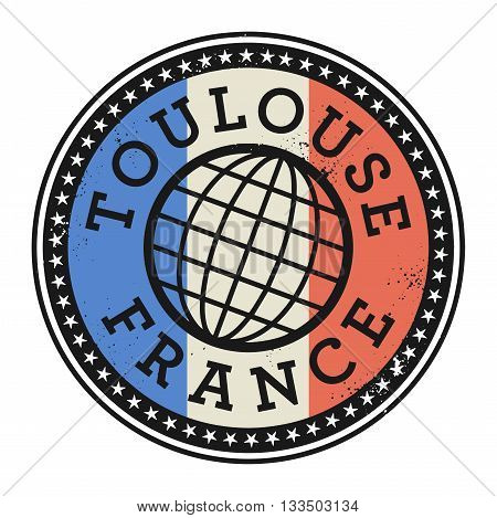 Grunge rubber stamp with the text Toulouse, France, vector illustration