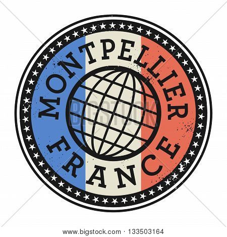 Grunge rubber stamp with the text Montpellier, France, vector illustration