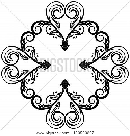 Elegant circle floral ornament design element EPS8 - vector graphics.