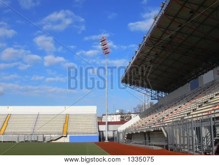 Empty Tribunes On Soccer Stadium 2