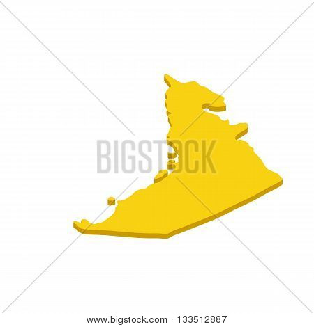 Map UAE icon in isometric 3d style isolated on white background. Maps symbol