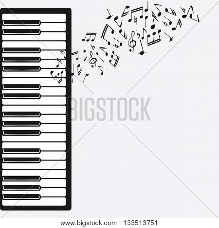 music background with piano. vector illustration - eps 8