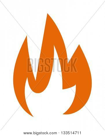 Fire flame vector illustration.