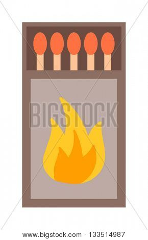 Vector burning matches sticks