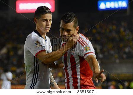 James Rodriguez Quieting Miguel Samudio