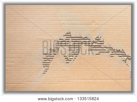 Brown crumpled paper with texture and pattern, Clipping path