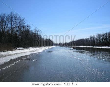 Icy Gunpowder River