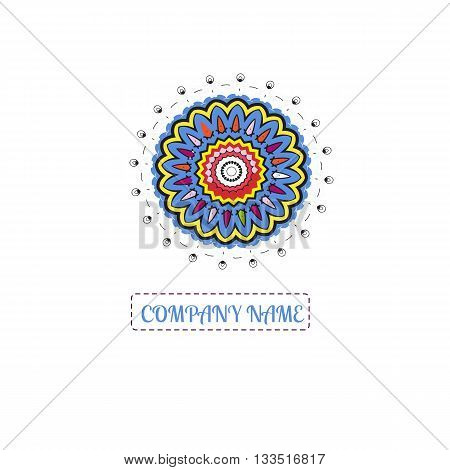 Bright juicy logo. Beautiful circular logos. Logo for boutique, sweets. Company logo, mark, emblem, element. Simple geometric logo. Mandala logo. Business, invitations. Kaleidoscope logo.