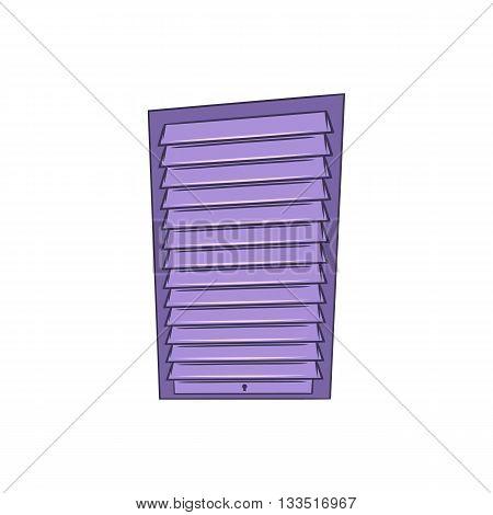 Shutter door or roller door icon in cartoon style on a white background