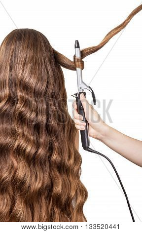 Hairdresser frizz hair isolated on white background.