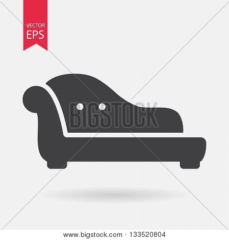 Sofa icon vector. Luxury glamour sofa sign isolated on white backround. Vector illustration