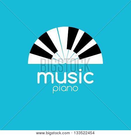 Vector minimalistic music piano logo. Music trendy symbol.