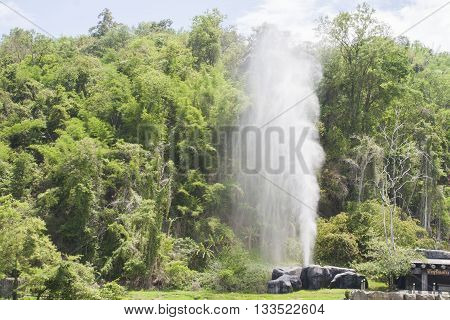 background nature hot springs at thailand wonderful