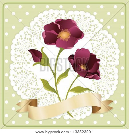 Scalable vectorial image representing a background label flower.