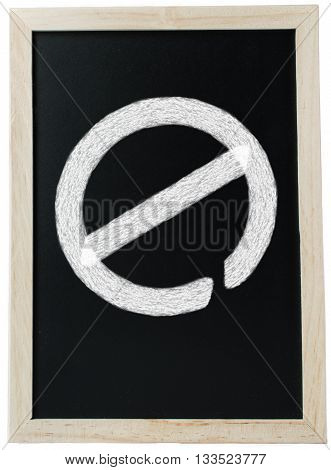 Education Barriers - A chalk board which is meant to signify education with a 'no access' traffic sign written in chalk implying that there is a barrier.