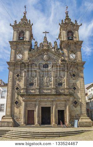 Holy Cross Church In The Center Of Braga