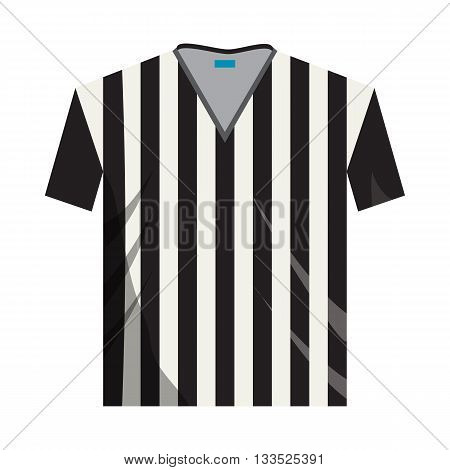 Referee shirt icon in cartoon style on a white background