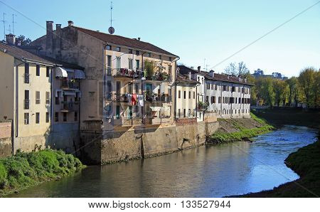 River In City Vicenza, Italy