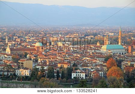 Cityscape Of Vicenza, Northern Italy