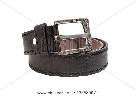 black belt isolated on a white background.