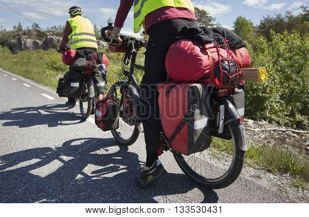 Bicycle Touring on the road