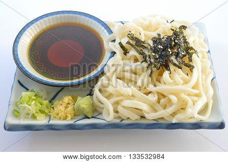 close up Japanese cuisine, zaru udon noodle