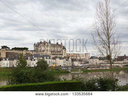 View of France's Chateau d'Amboise in the Loire Valley