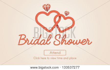 Bridal Shower Bachelorette Party Celebration Marriage Concept