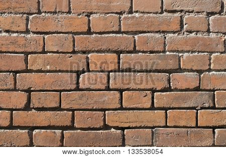 old brown brickwork walls of the 19th century house